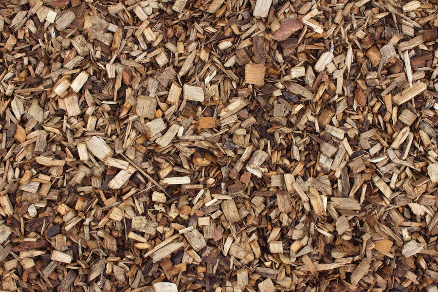 Hardwood play grade bark gardening mulch chippings